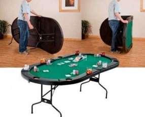 Mesa de póquer plegable 8 posiciones