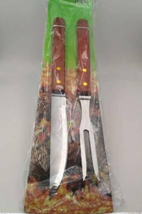 Kit de cuchillo con tenedor para asado