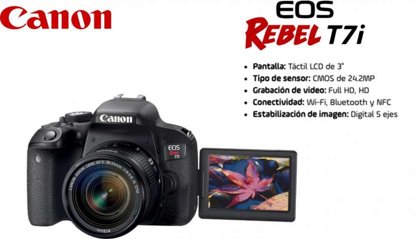 Cámara Canon T7i Kit 18-55mm - 0