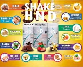 Shake HND batido nutritivo