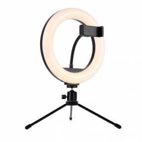Aro de luz 26 cm con trípode para mesa o escritorio