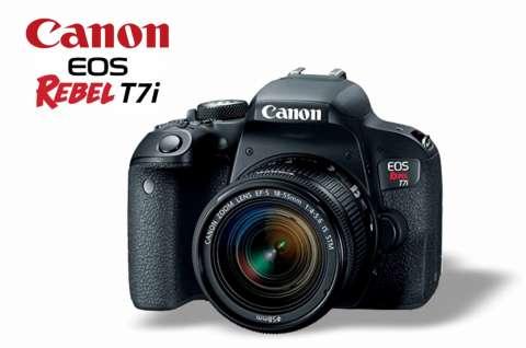 Cámara Canon T7i Kit 18-55mm