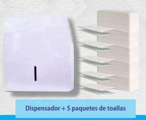 Dispenser de toallas intercaladas y packs de toallas
