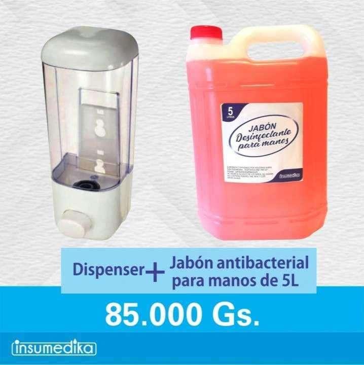 Kit dispenser de jabón con 1 bidón de regalo - 0