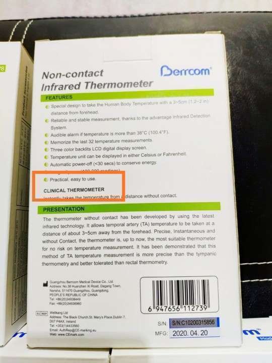Termómetro Digital Infrarrojo - 1