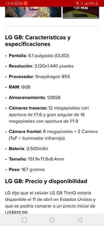 LG G8 ThinQ 128 gb - 5