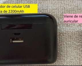 Cargador de celular usb y auricular de regalo