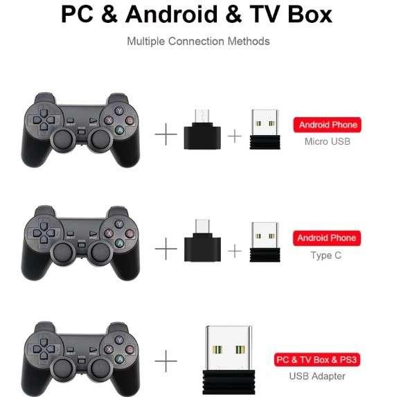 Joystick 2,4G inalámbrico (Teléfono Android/PC/PS3/ - 0