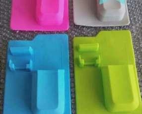 Organizador de silicona para baño porta cepillo de dientes