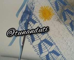 Banderita Argentina de ñanduti