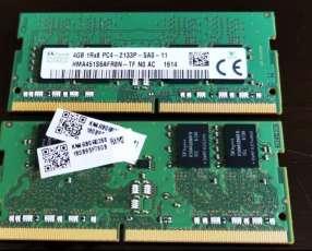 Memoria RAM DDR4 para laptop 2x4 GB