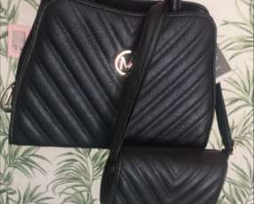 Cartera SP paris negra con billetera