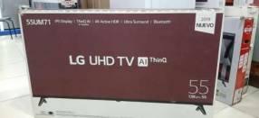 Smart tv led LG UHD 4K de 55 pulgadas