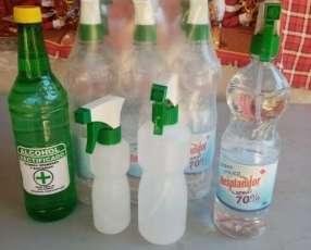Alcohol rectificado y rociadores