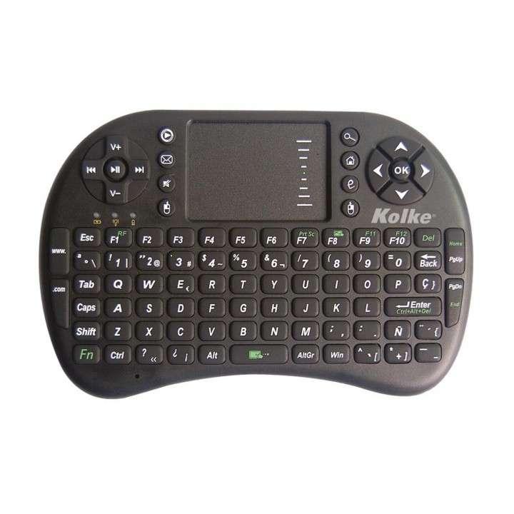 Mini teclado smart inalámbrico con luz led para tv notebook - 0