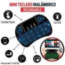 Mini teclado smart inalámbrico con luz led para tv notebook - 1