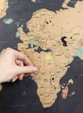 Mapa para marcar tus viajes