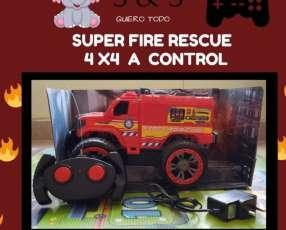 Juguete Auto a Control Bombero Fire Rescue