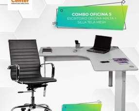 Silla de oficina + escritorio