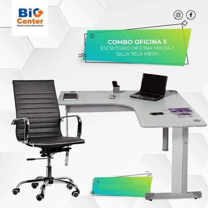 Silla de oficina + escritorio - 0