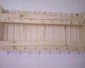 Porta tazas y más de madera
