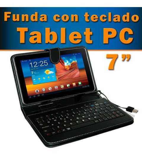 Estuche y teclado para tablet de 7 pulgadas