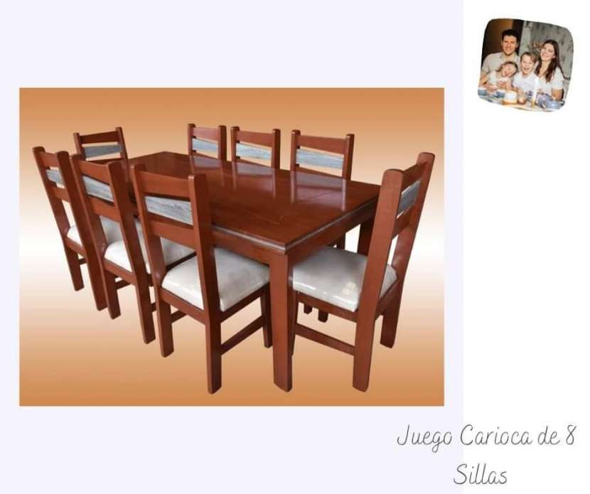 Mesa comedor con 8 sillas - 0