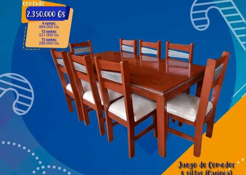Mesa comedor con 8 sillas - 1
