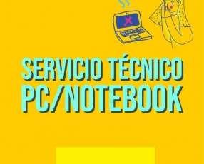 Servicio Técnico reparación PC, Notebook