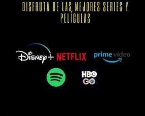Cuentas Premium Netflix, Spotify y Amazon Prime Video