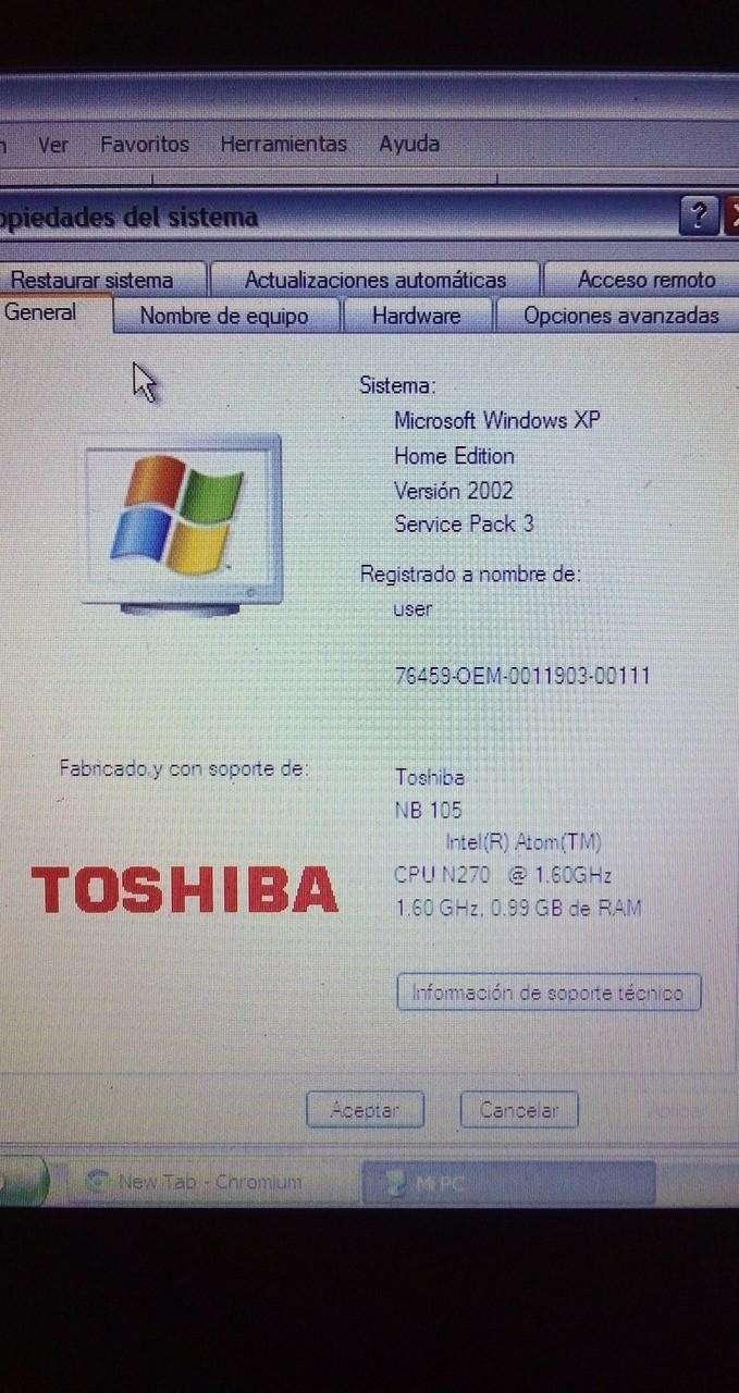 Mini Notebook Toshiba - 2