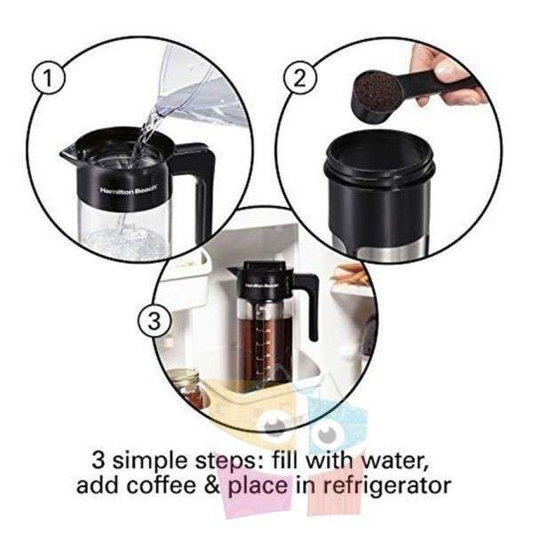 Cafetera de Inmersion e infusor de té helado Jarra de vidrio - 2