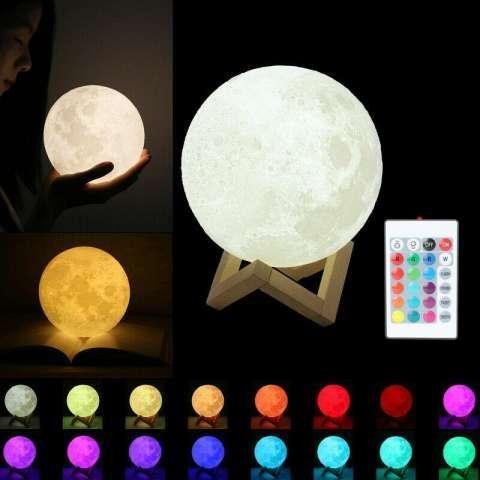 Luna led 3d 16 colores - 0