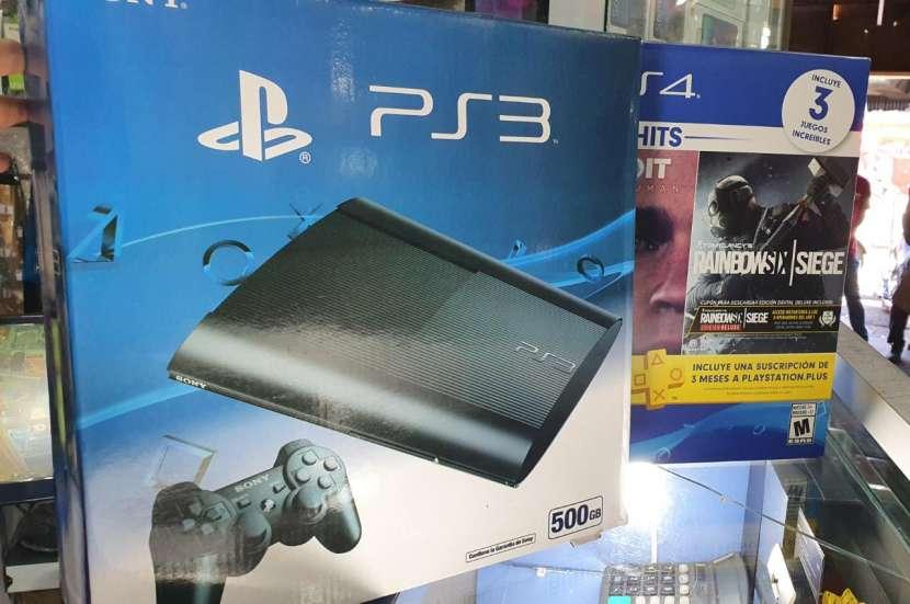 PS3 de 500 gb con 45 juegos - 0