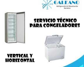 Servicio técnico para congeladores de todas las capacidades