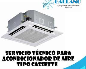 Técnico en refrigeración para aires acondicionados tipo cassette en Asunción