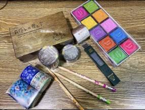 Kit sellos más cintas decorativas con su refil