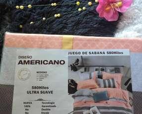 Juego de sábanas americanas
