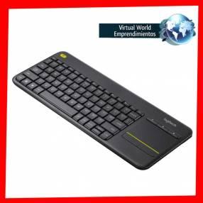 Teclado inalámbrico touch K400 plus para pc y smart tv