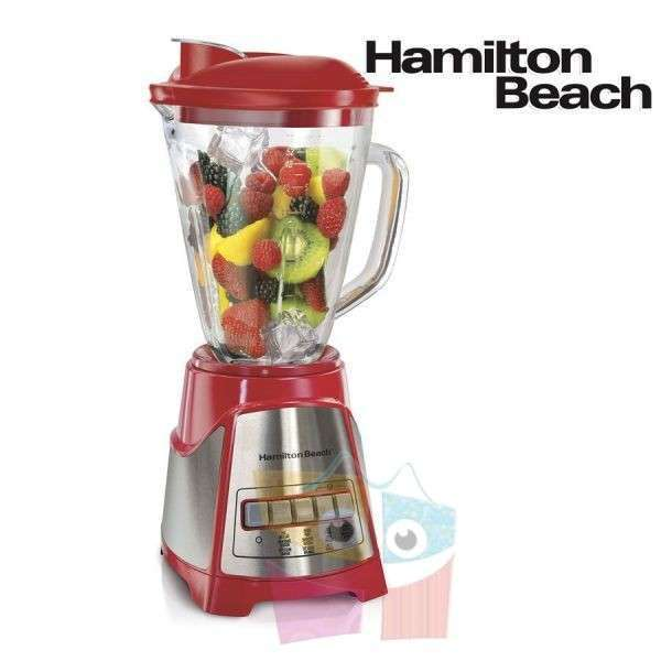 Licuadora Power Élite Jarra de Vidrio Roja Hamilton Beach - 0