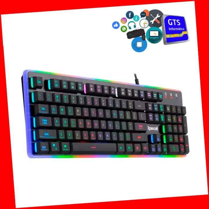 Teclado Redragon Dyaus II semi mecánico RGB gaming español - 0