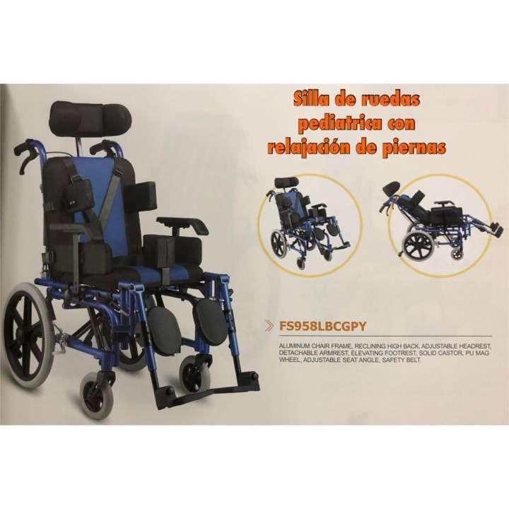 Silla de ruedas pediátricas con relajación de piernas - 0