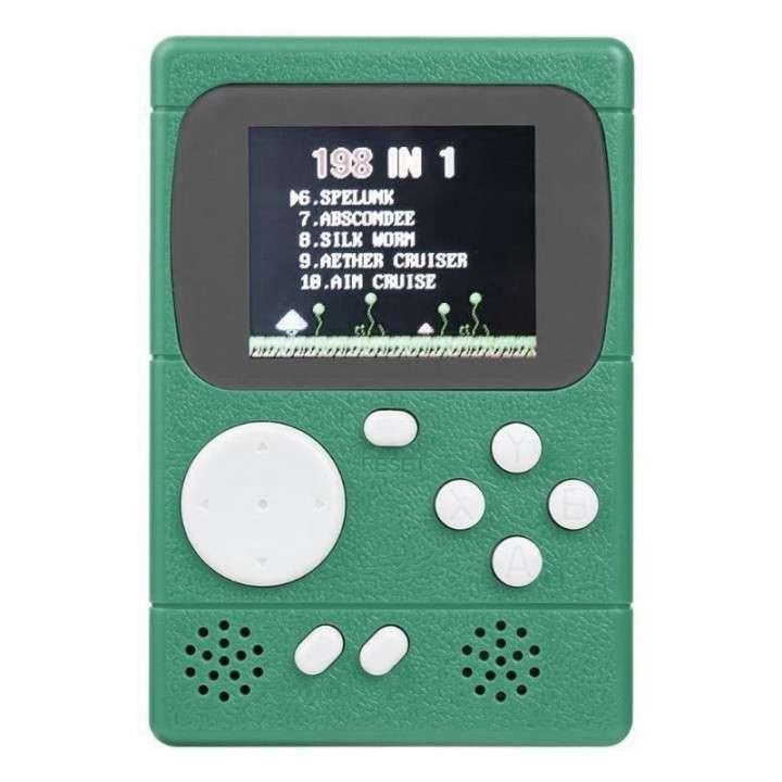 Consola portátil Retro Pocket 2.4 pulgadas con 198 juegos clásicos - 0