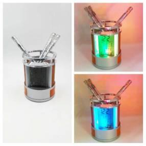 Porta lápiz con luz led colorido
