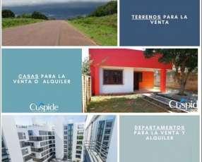 Terrenos casas y departamentos