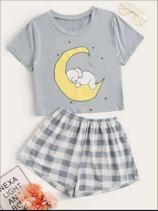 Pijama a cuadros celeste elefante - 0