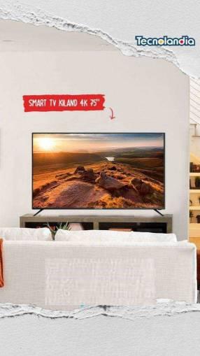 Smart TV 4K Kiland de 75 pulgadas