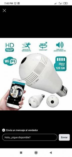 Foco cámara wifi y memory