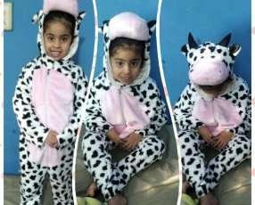 Pijama infantil de vaca