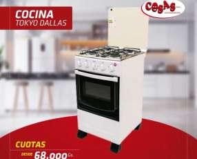 Cocina Tokyo Dallas 4 hornallas